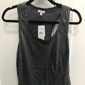 New Grey Splendid Tank Top With Ruffle Size M